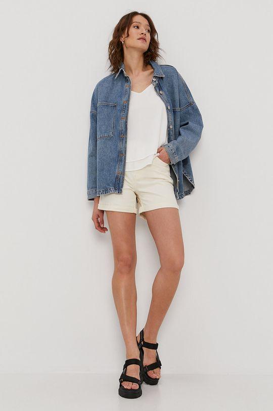 Only - Rifľové krátke nohavice telová
