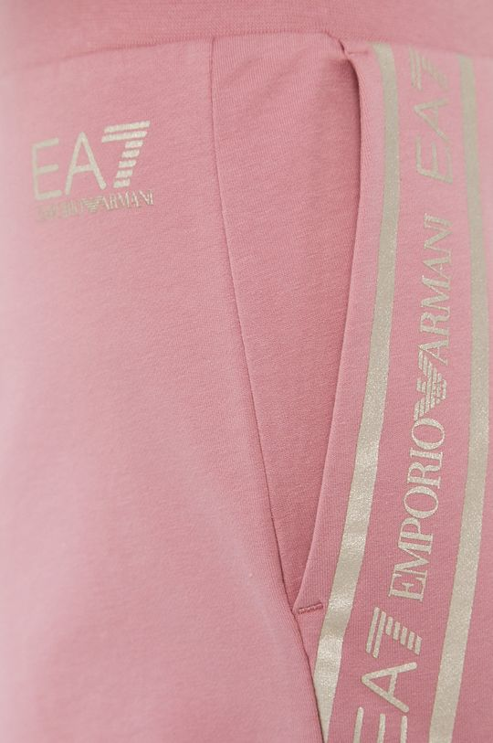 różowy EA7 Emporio Armani - Szorty