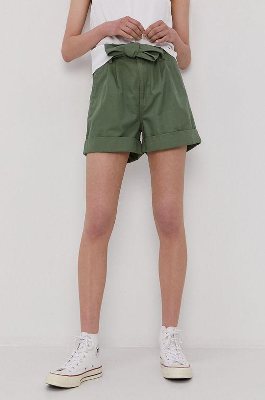 brązowa zieleń Tommy Jeans - Szorty Damski