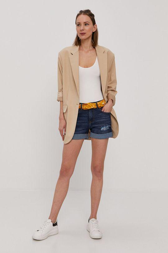 Jacqueline de Yong - Szorty jeansowe niebieski