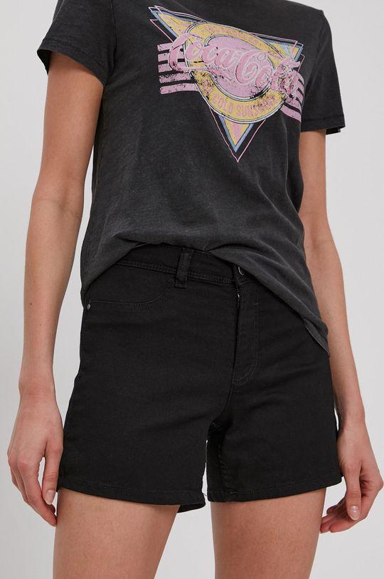 čierna Jacqueline de Yong - Rifľové krátke nohavice Dámsky