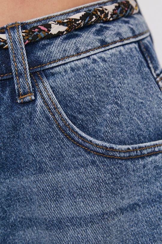modrá Jacqueline de Yong - Rifľové krátke nohavice
