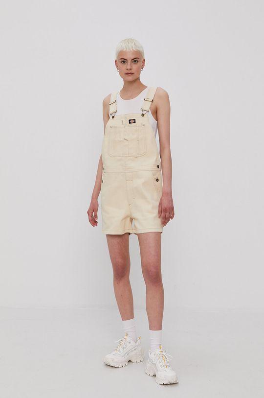 Dickies - Nohavice na traky krémová