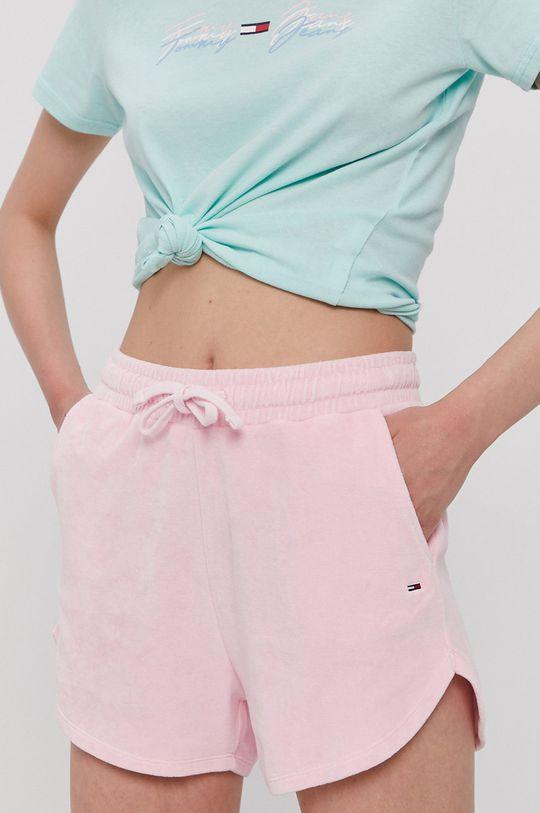 różowy Tommy Jeans - Szorty Damski