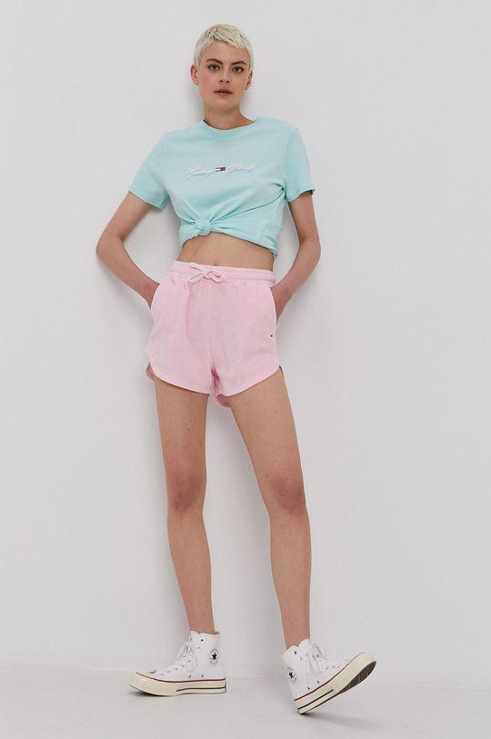 Tommy Jeans - Szorty różowy