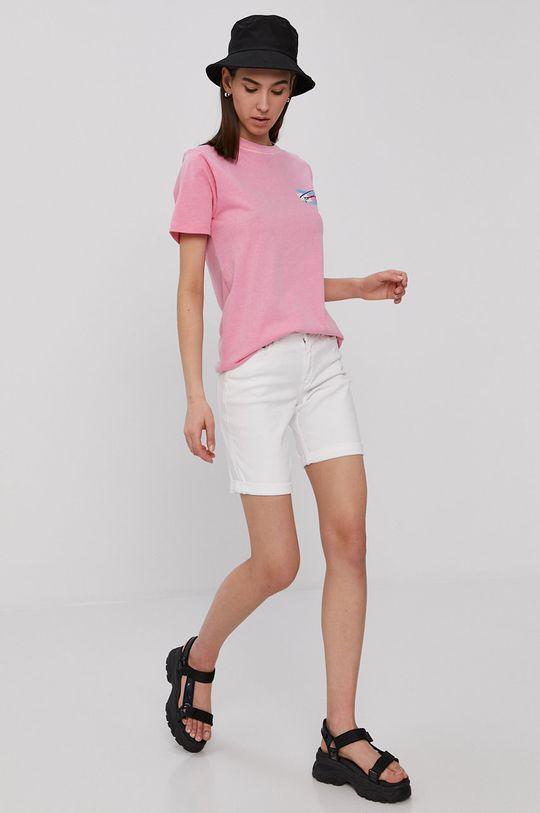 Tommy Jeans - Szorty jeansowe biały