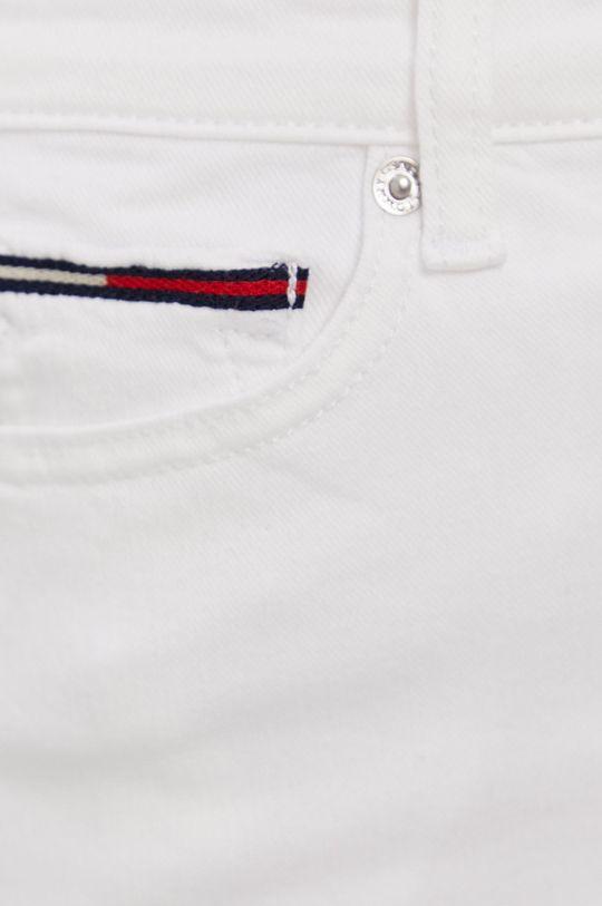 biały Tommy Jeans - Szorty jeansowe