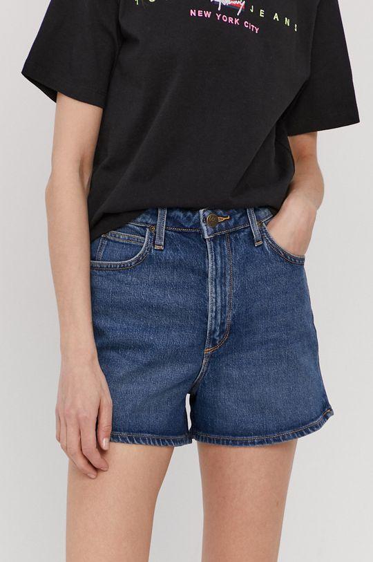 granatowy Lee - Szorty jeansowe Damski