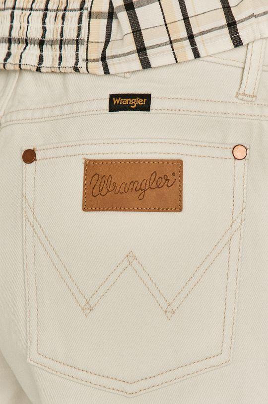 biela Wrangler - Rifľové krátke nohavice