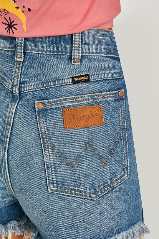 niebieski Wrangler - Szorty jeansowe