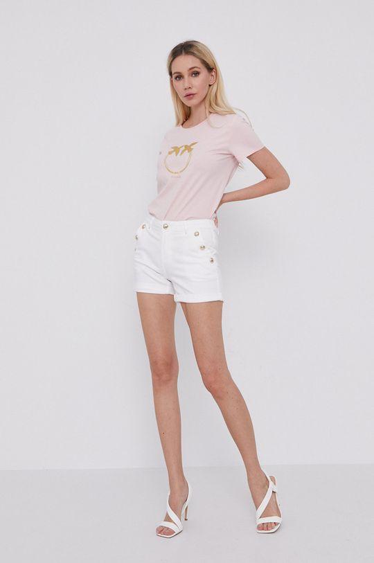 Morgan - Rifľové krátke nohavice biela