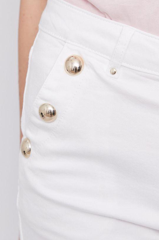 biela Morgan - Rifľové krátke nohavice