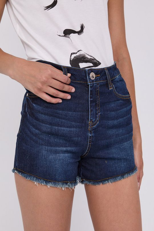 granatowy Morgan - Szorty jeansowe Damski