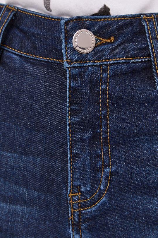 granatowy Morgan - Szorty jeansowe