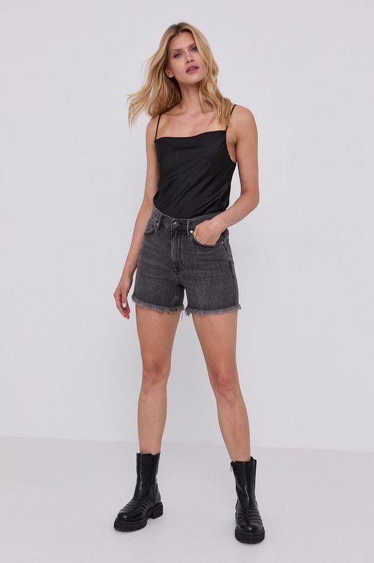 AllSaints - Džínové šortky šedá