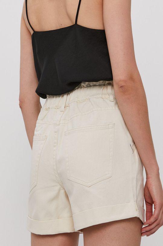Vila - Rifľové krátke nohavice  100% Bavlna