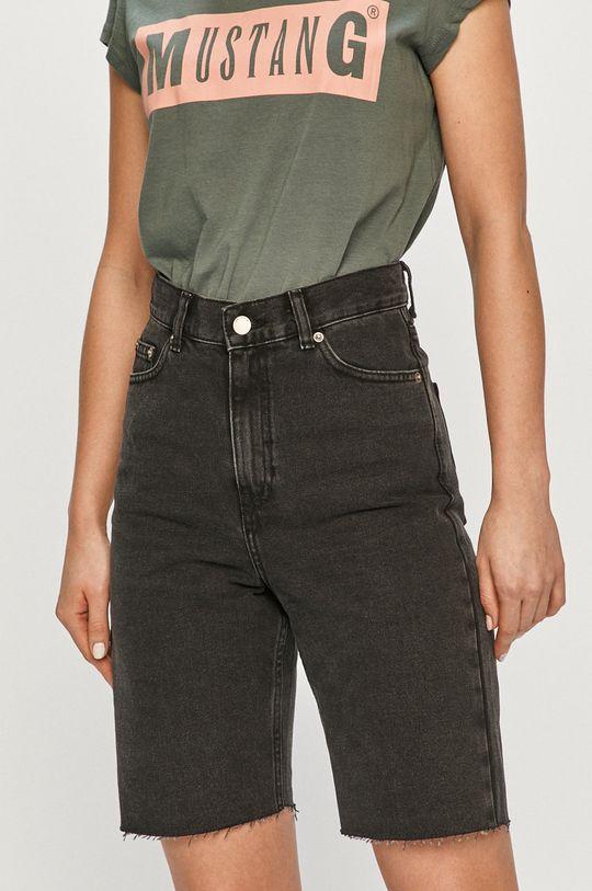 čierna Dr. Denim - Rifľové krátke nohavice Dámsky
