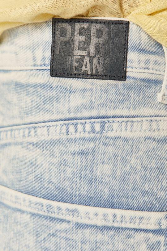 modrá Pepe Jeans - Rifľové krátke nohavice Rachel