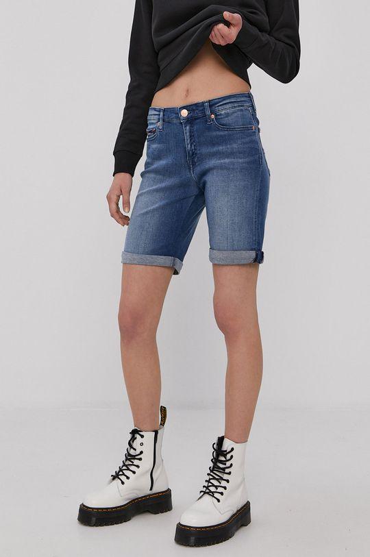 modrá Tommy Jeans - Džínové šortky Dámský