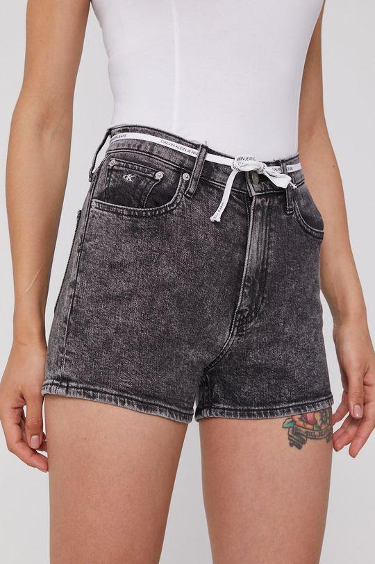 šedá Calvin Klein Jeans - Džínové šortky Dámský