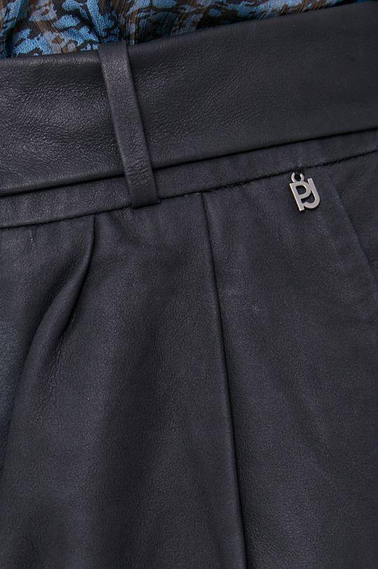 námořnická modř Pepe Jeans - Kožené šortky Carola