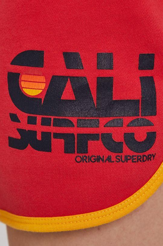červená Superdry - Kraťasy