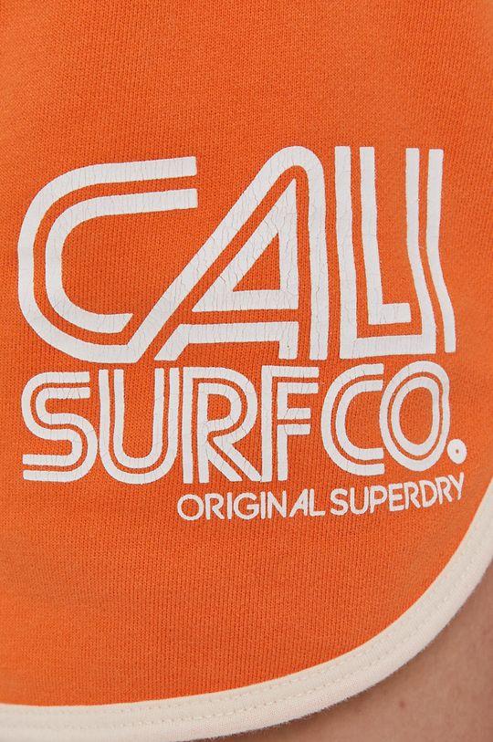 oranžová Superdry - Kraťasy