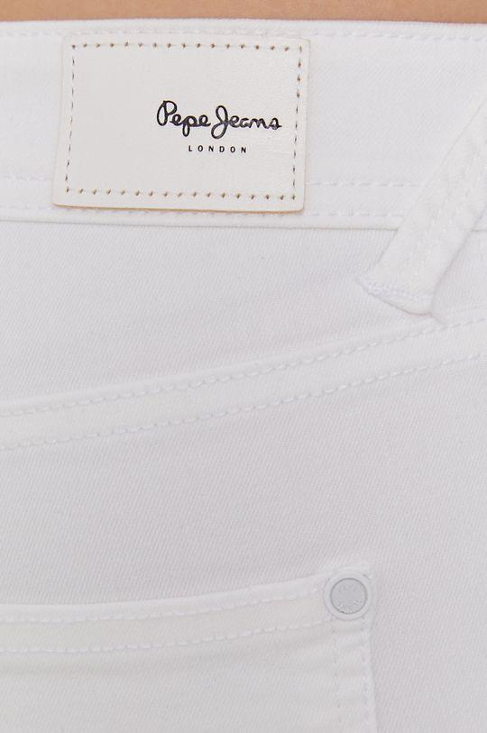 biały Pepe Jeans - Szorty POPPY