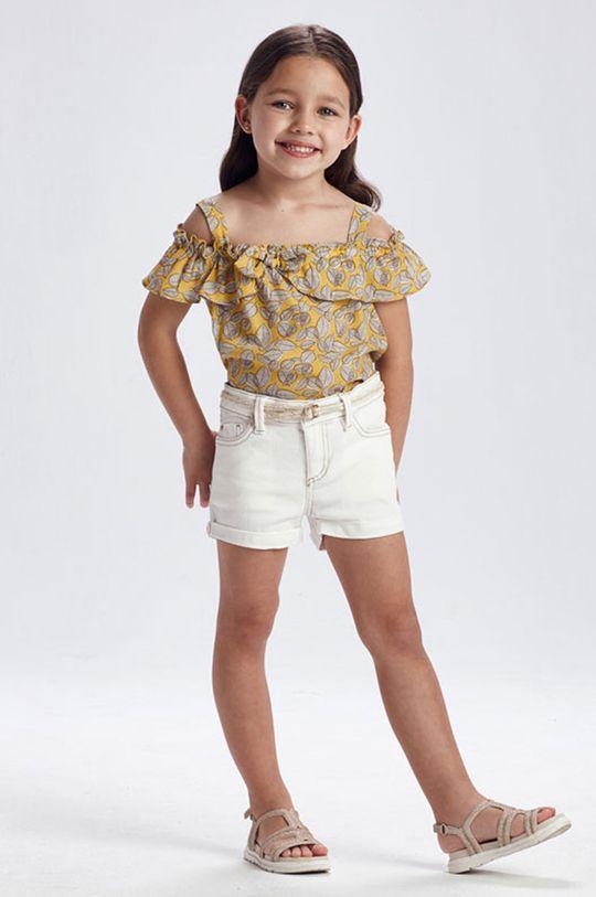 kremowy Mayoral - Szorty dziecięce Dziewczęcy