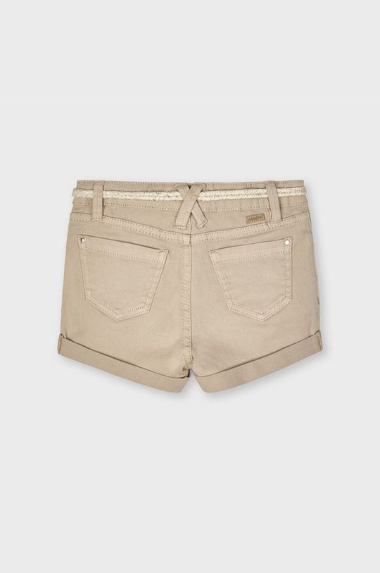Mayoral - Detské krátke nohavice kávová