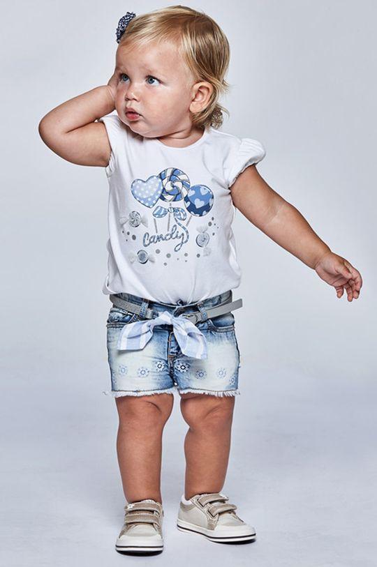 albastru pal Mayoral - Pantaloni scurti copii De fete