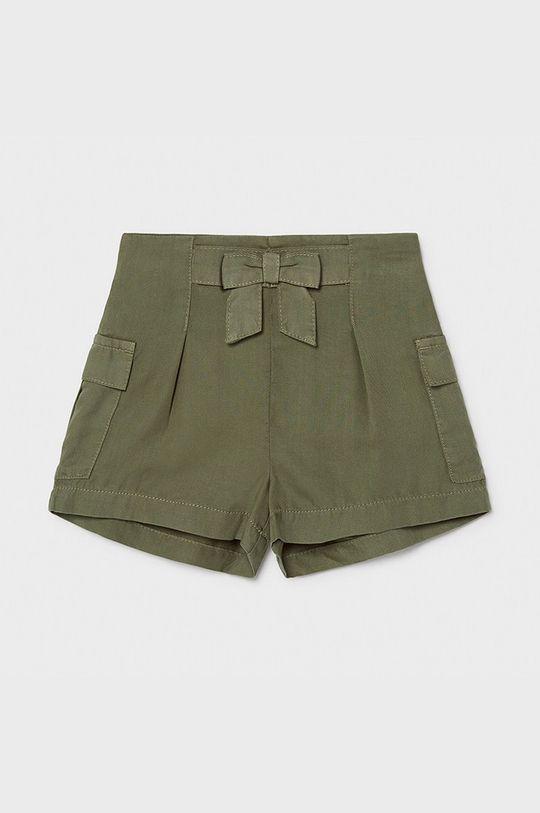 hnedozelená Mayoral - Detské krátke nohavice Dievčenský