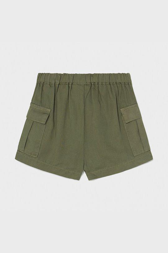 Mayoral - Detské krátke nohavice hnedozelená