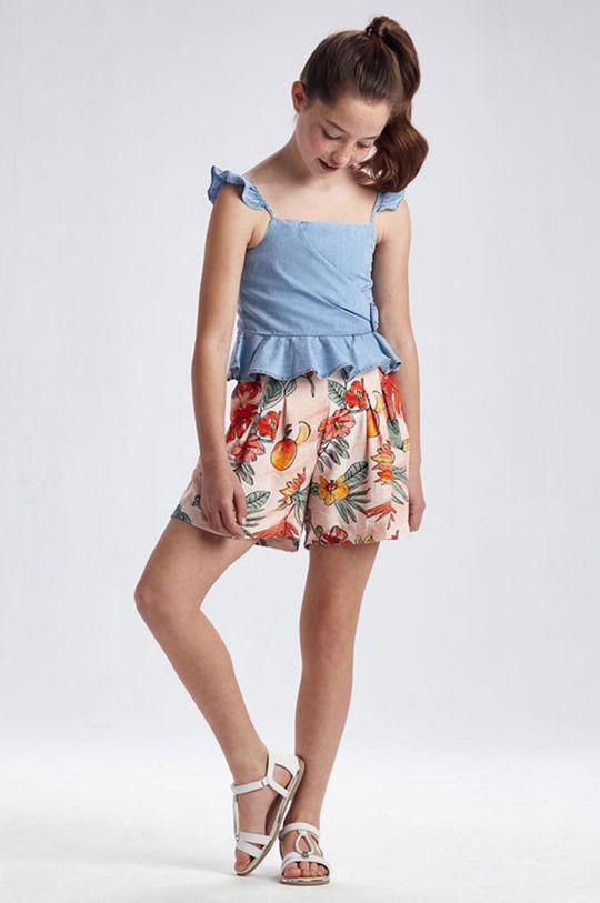 oranžová Mayoral - Detské krátke nohavice Dievčenský
