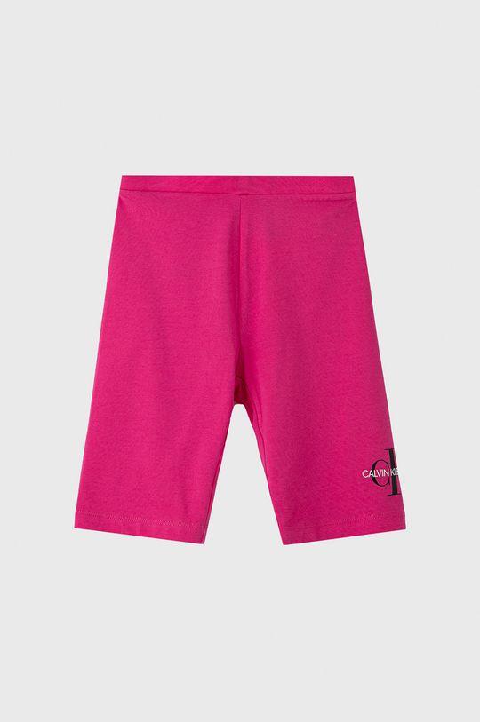 ostry różowy Calvin Klein Jeans - Szorty dziecięce 104-176 cm Dziewczęcy