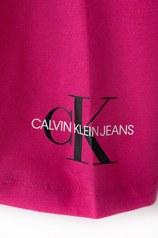Calvin Klein Jeans - Szorty dziecięce 104-176 cm ostry różowy