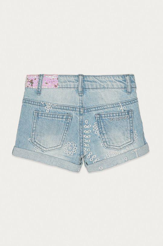 Desigual - Szorty jeansowe dziecięce 104-164 cm 100 % Bawełna, Wskazówki pielęgnacyjne:  nie prać chemicznie, nie suszyć w suszarce bębnowej, nie wybielać, prasować w niskiej temperaturze