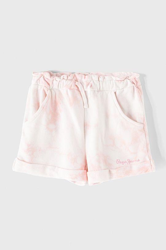pastelowy różowy Pepe Jeans - Szorty dziecięce Resha 128-180 cm Dziewczęcy