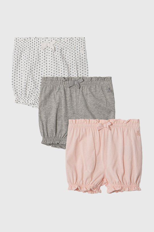 multicolor GAP - Pantaloni scurti copii 50-86 cm (3-pack) De fete