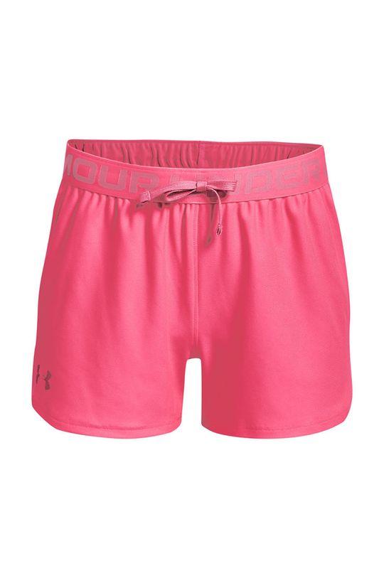 fucsie Under Armour - Pantaloni scurti copii 122 - 170 cm De fete