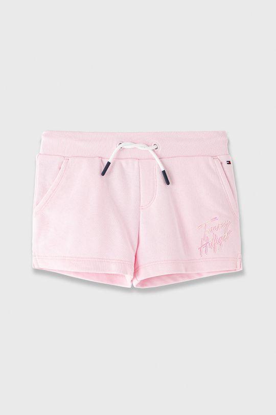 pastelově růžová Tommy Hilfiger - Dětské kraťasy 110-176 cm Dívčí