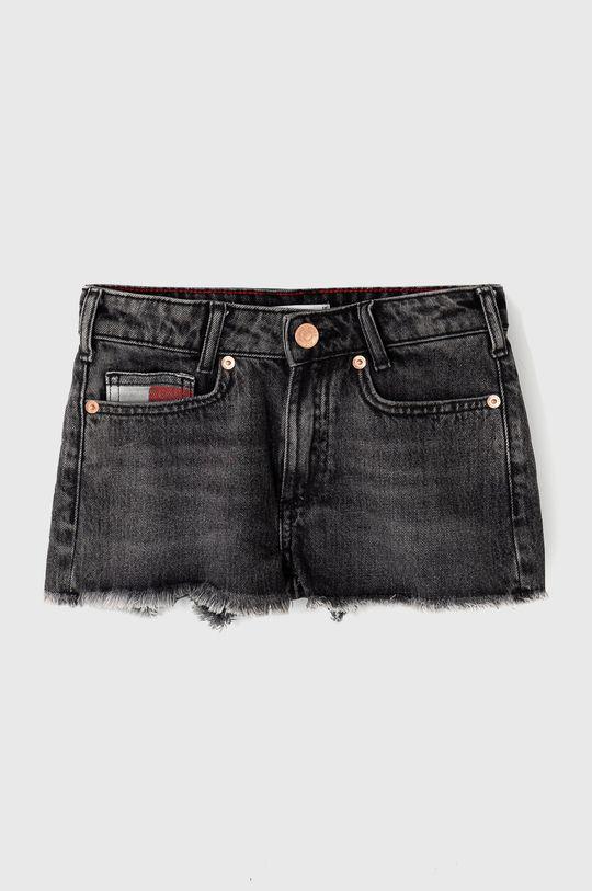 szary Tommy Hilfiger - Szorty jeansowe dziecięce 128-176 cm Dziewczęcy
