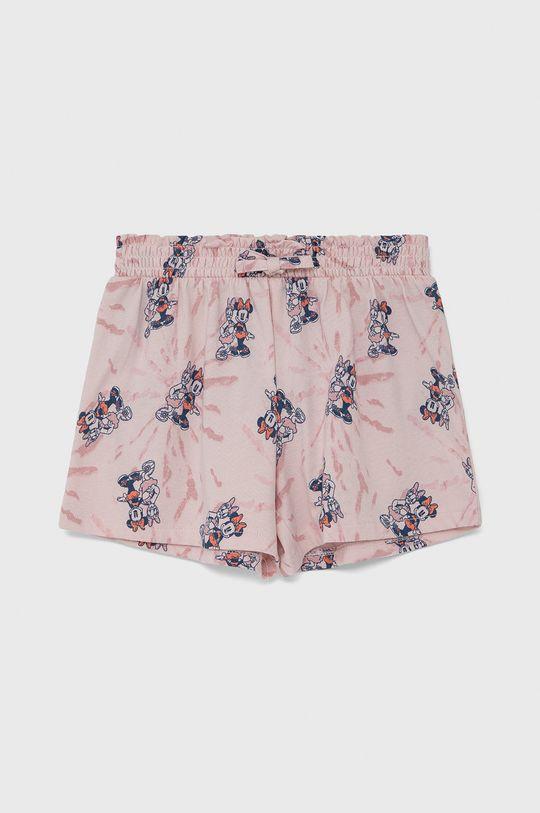 pastelowy różowy GAP - Szorty dziecięce Dziewczęcy
