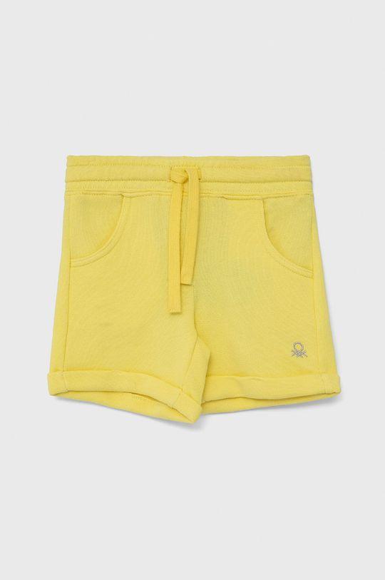 jasny żółty United Colors of Benetton - Szorty dziecięce Dziewczęcy