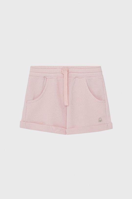 pastelowy różowy United Colors of Benetton - Szorty dziecięce Dziewczęcy