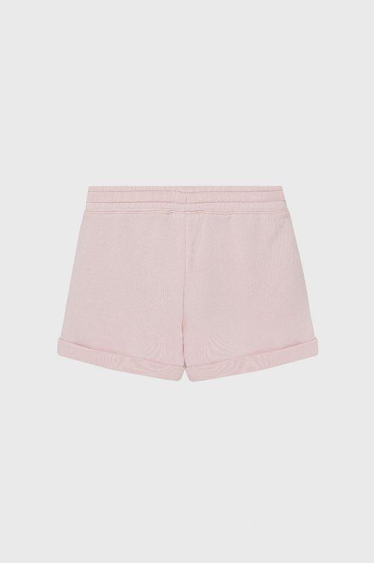 United Colors of Benetton - Szorty dziecięce pastelowy różowy