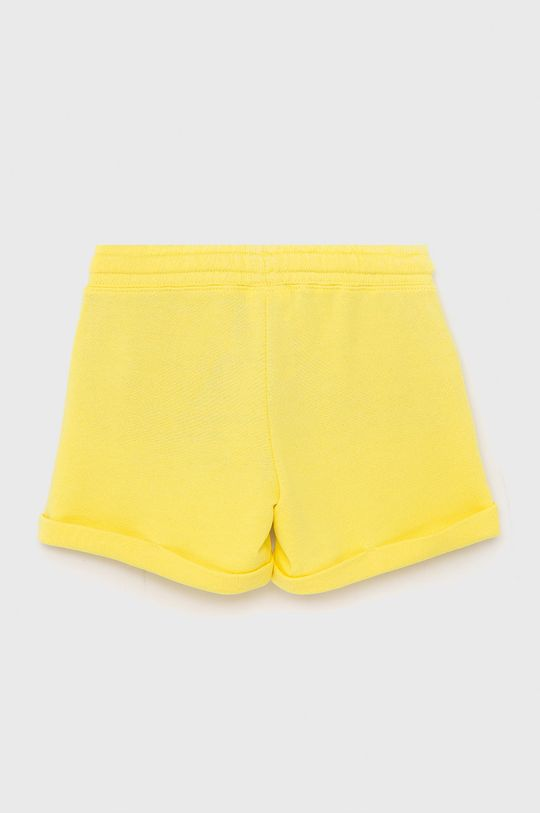 United Colors of Benetton - Szorty dziecięce jasny żółty