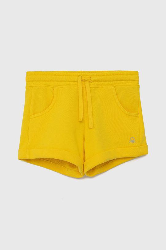 žlutá United Colors of Benetton - Dětské kraťasy Dívčí