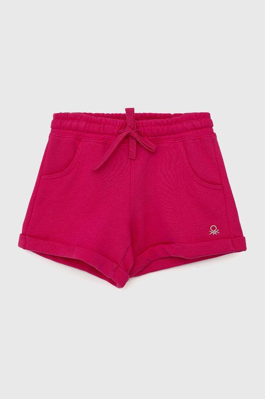 růžová United Colors of Benetton - Dětské kraťasy Dívčí