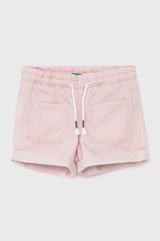 pastelově růžová United Colors of Benetton - Dětské kraťasy Dívčí